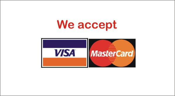 VISA and Mastercard are accepted