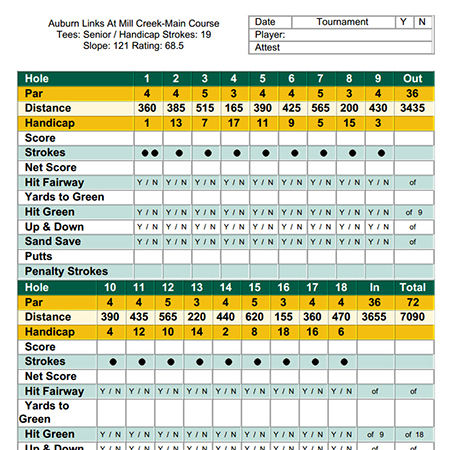 Golf Score Card Software
